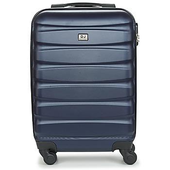 Tašky Pevné cestovné kufre David Jones CHAUVETTINI 40L Námornícka modrá