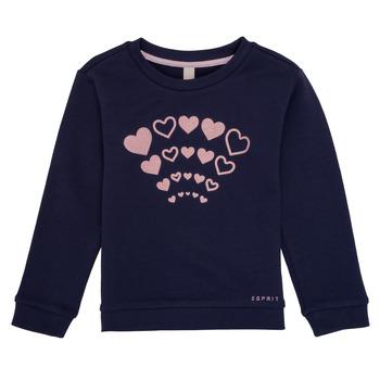 Oblečenie Dievčatá Mikiny Esprit ESTER Námornícka modrá