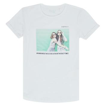 Oblečenie Dievčatá Tričká s krátkym rukávom Esprit ELISH Biela