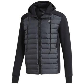 Oblečenie Muži Vyteplené bundy adidas Originals Varilite Hybrid Grafit,Čierna