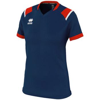Oblečenie Ženy Tričká s krátkym rukávom Errea Maillot femme  lenny bleu/marine/blanc