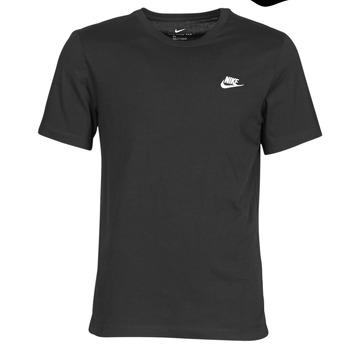 Oblečenie Muži Tričká s krátkym rukávom Nike M NSW CLUB TEE Čierna / Biela