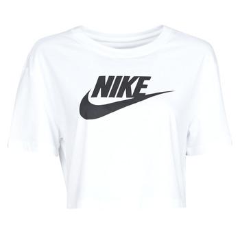 Oblečenie Ženy Tričká s krátkym rukávom Nike W NSW TEE ESSNTL CRP ICN FTR Biela / Čierna
