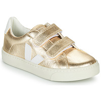 Topánky Dievčatá Nízke tenisky Veja SMALL-ESPLAR-VELCRO Zlatá / Biela