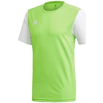 Oblečenie Muži Tričká s krátkym rukávom adidas Originals Estro 19 Biela,Zelená