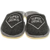 Topánky Muži Papuče Bins Pánske sivé papuče SUPER DEDKO tmavosivá