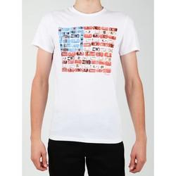 Oblečenie Muži Tričká s krátkym rukávom Wrangler S/S Modern Flag Tee W7A45FK12 white