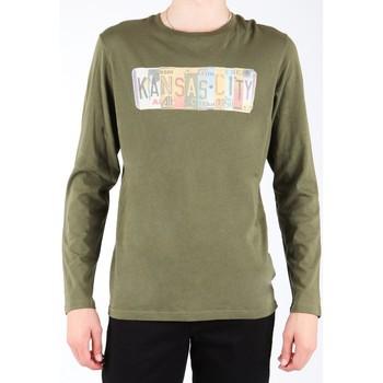 Oblečenie Muži Tričká s dlhým rukávom Lee L848AI olive green