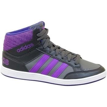 Topánky Deti Členkové tenisky adidas Originals Hoops Mid K Sivá,Fialová
