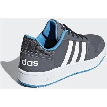 Topánky Deti Nízke tenisky adidas Originals Hoops 20 K Grafit,Sivá
