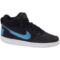 Topánky Deti Členkové tenisky Nike Court Borough Mid EP GS Čierna