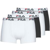 Spodná bielizeň Muži Boxerky Fila Pack de 4 Čierna / Biela