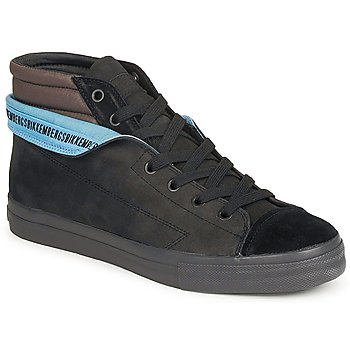 Topánky Muži Členkové tenisky Bikkembergs PLUS MID SUEDE čierna