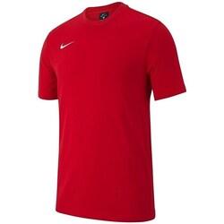 Oblečenie Chlapci Tričká s krátkym rukávom Nike JR Team Club 19 Červená
