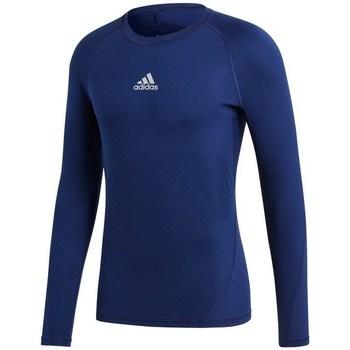 Oblečenie Muži Tričká s dlhým rukávom adidas Originals Baselayer Alphaskin Tmavomodrá