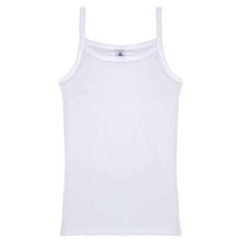 Oblečenie Dievčatá Tielka a tričká bez rukávov Petit Bateau 53295 Biela