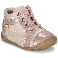 Topánky Dievčatá Polokozačky GBB OMANE Ružová