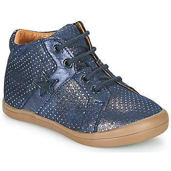 Topánky Dievčatá Polokozačky GBB DUANA Modrá