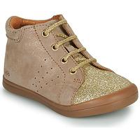 Topánky Dievčatá Polokozačky GBB NAHIA Béžová / Zlatá