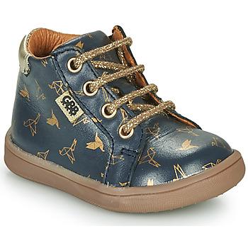 Topánky Dievčatá Polokozačky GBB FAMIA Modrá / Zlatá