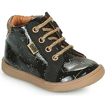 Topánky Dievčatá Polokozačky GBB FAMIA Čierna
