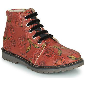 Topánky Dievčatá Polokozačky GBB NAREA Červená
