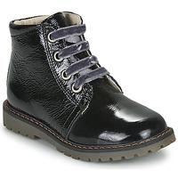 Topánky Dievčatá Polokozačky GBB NAREA Čierna
