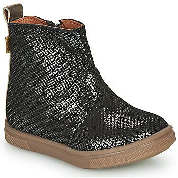 Topánky Dievčatá Polokozačky GBB ERNA Čierna