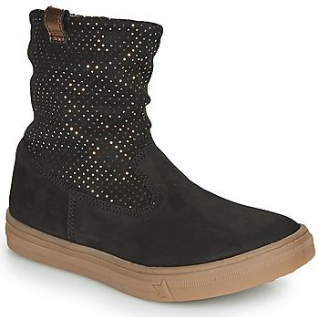 Topánky Dievčatá Čižmy do mesta GBB KINGA Čierna