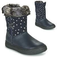 Topánky Dievčatá Čižmy do mesta GBB OLINETTE Námornícka modrá