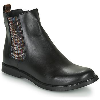 Topánky Dievčatá Polokozačky GBB ARANA Čierna