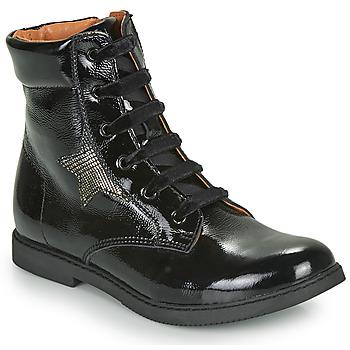 Topánky Dievčatá Polokozačky GBB JAMILA Čierna