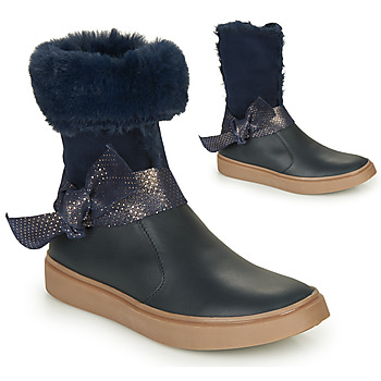 Topánky Dievčatá Čižmy do mesta GBB EVELINA Námornícka modrá