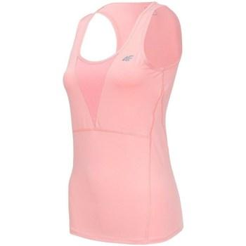 Oblečenie Ženy Tielka a tričká bez rukávov 4F TSDF001 Ružová