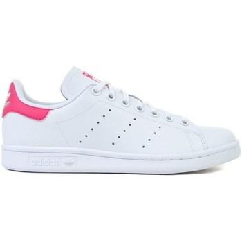 Topánky Deti Nízke tenisky adidas Originals Stan Smith J Biela, Ružová
