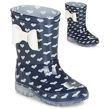Topánky Dievčatá Gumaky Be Only AMOUR FLASH Námornícka modrá