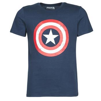 Oblečenie Muži Tričká s krátkym rukávom Casual Attitude CAPTAIN AMERICA LOGO Námornícka modrá