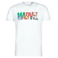 Oblečenie Muži Tričká s krátkym rukávom Casual Attitude MARVEL HERO LOGO Biela