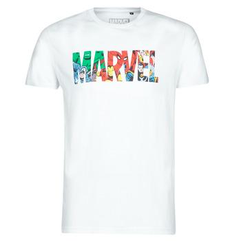 Oblečenie Muži Tričká s krátkym rukávom Yurban MARVEL HERO LOGO Biela