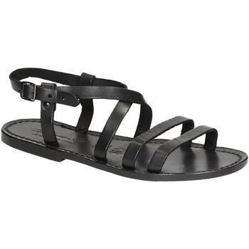 Topánky Ženy Sandále Gianluca - L'artigiano Del Cuoio 531 D NERO CUOIO nero