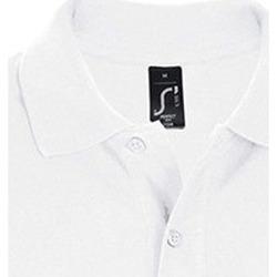 Oblečenie Muži Polokošele s krátkym rukávom Sols PERFECT COLORS MEN Blanco