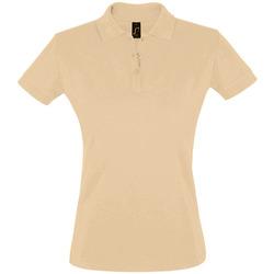 Oblečenie Ženy Polokošele s krátkym rukávom Sols PERFECT COLORS WOMEN Marrón