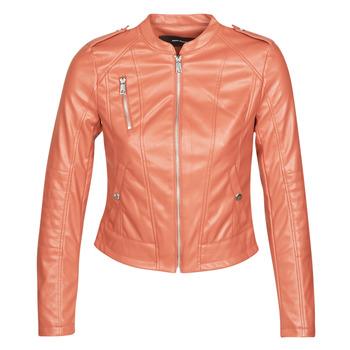 Oblečenie Ženy Kožené bundy a syntetické bundy Vero Moda VMAWARDALMA Červená tehlová