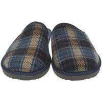 Topánky Muži Papuče Bins Pánske modré papuče EDUARD modrá