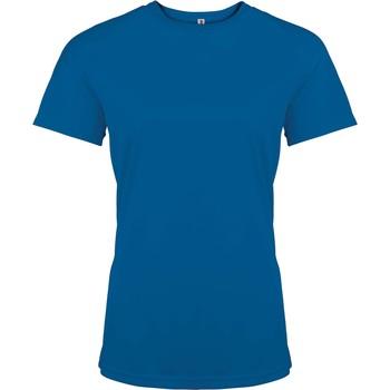Oblečenie Ženy Tričká s krátkym rukávom Proact T-Shirt femme manches courtes  Sport bleu marine