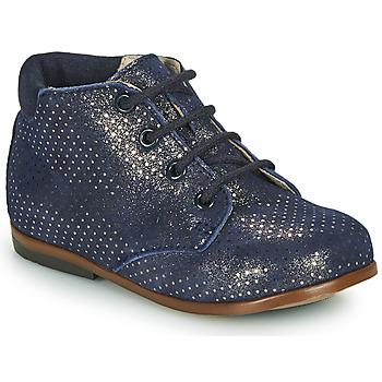 Topánky Dievčatá Polokozačky GBB TACOMA Modrá