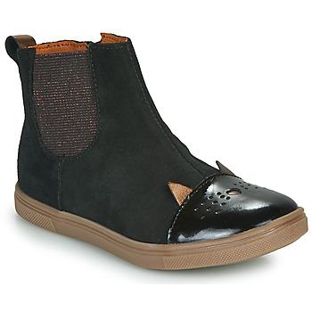Topánky Dievčatá Polokozačky GBB JESSINE Čierna