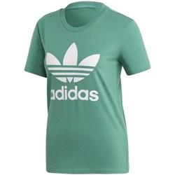 Oblečenie Ženy Tričká s krátkym rukávom adidas Originals Trefoil Tee Zelená