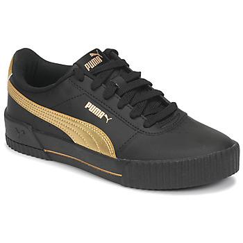 Topánky Ženy Nízke tenisky Puma CARINA Čierna / Zlatá