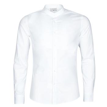 Oblečenie Muži Košele s dlhým rukávom Yurban MASS Biela